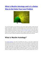 What is Muslim Astrology and Is It a Better Way to Get Solve Your Love Problem