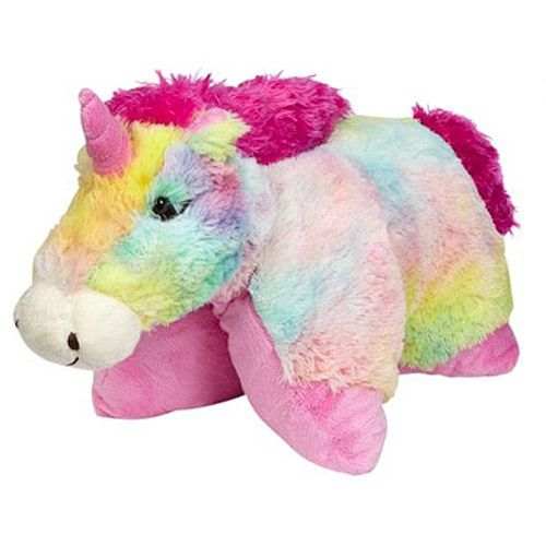Rainbow Unicorn Pillow Pet. Who wants to buy me this one? It s the freakin cutest ...