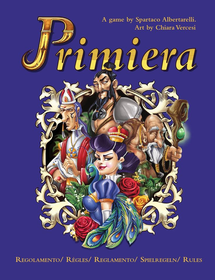 Primiera international rules  Primiera is a card game published by KaleidosGames in 2014. This rulebook includes the rules in Italian, English, French, German and Spanish. More infos on the official FB page www.facebook.com/primiera.net