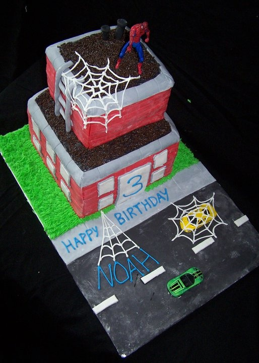 Spiderman birthday cake for my son
