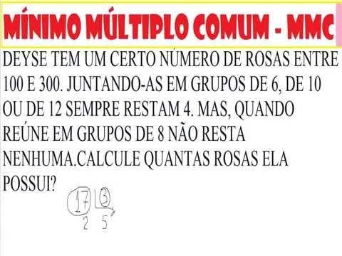 Mínimo múltiplo comum MMC Matemática básica https://youtu.be/cdPNQme4sAs  Múltiplos de números