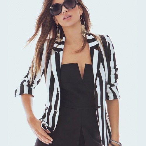 Disponibile Denny Rose giacca a righe bianca e nera 46dr31011 nuovo arrivo!