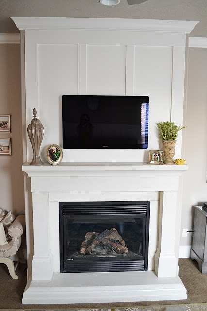 The Family Room Master Bedroom Fireplace Makeover Reveal For The Home Pinterest White