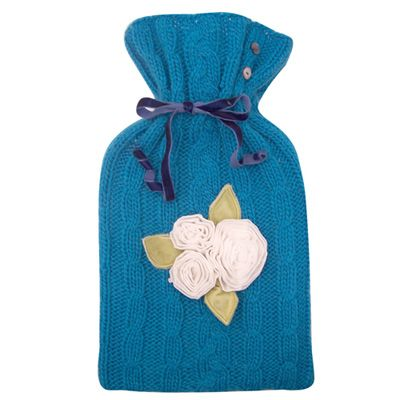 Chillout with this gorgeous knitted hot water bottle