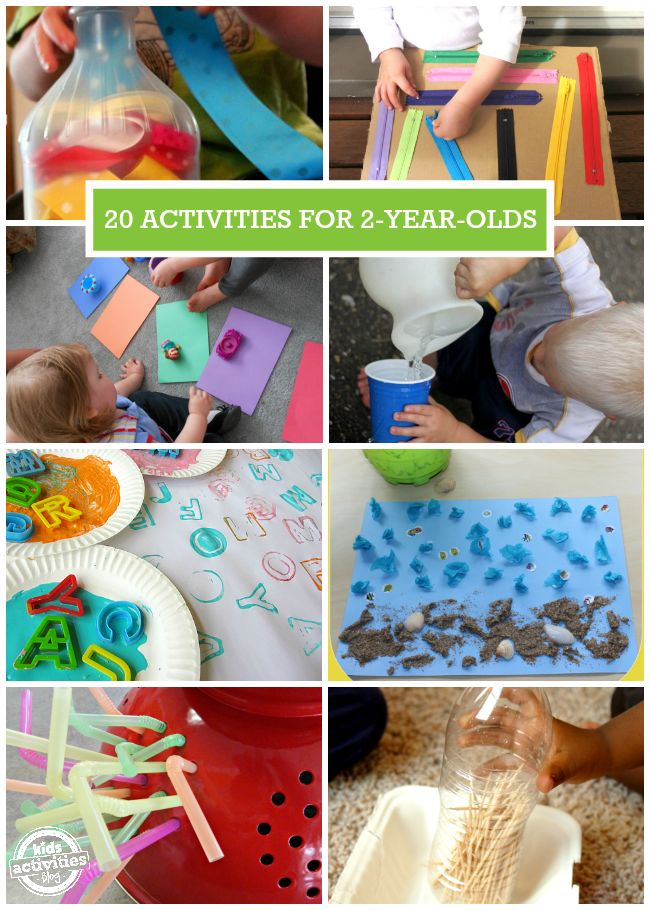 Over 20 Activities for 2 year olds. I love #13 - so simple!!
