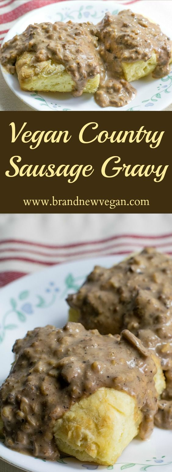 Last night this ole country boy had a hankerin' for some down home, Vegan Country Sausage Gravy! Y'all gotta try this. I mean this stuff is seriously good.