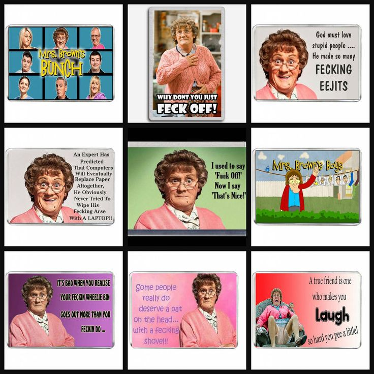 Mrs Browns Boys Fridge Magnets Tv Show Comedy F005