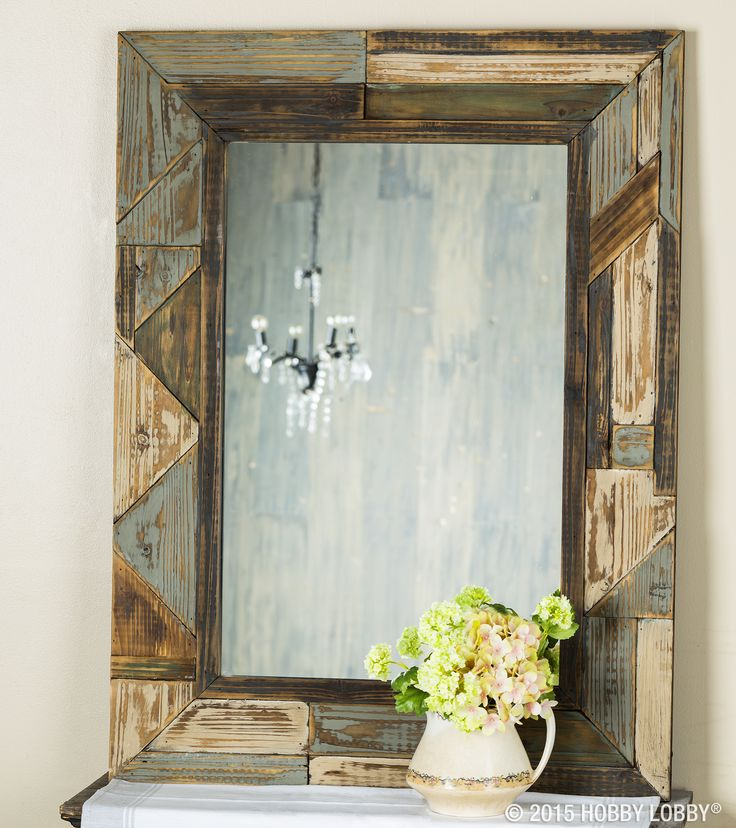 Welcome autumn and all its splendor with a beautiful display of rustic mirrors.