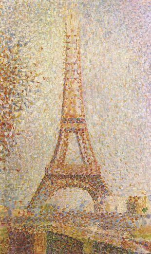La Tour Eiffel-Georges Seurat-1889-olio su tela-24,1×15,2 cm-conservato alCalifornia Palace of the Legion of Honor, San francisco