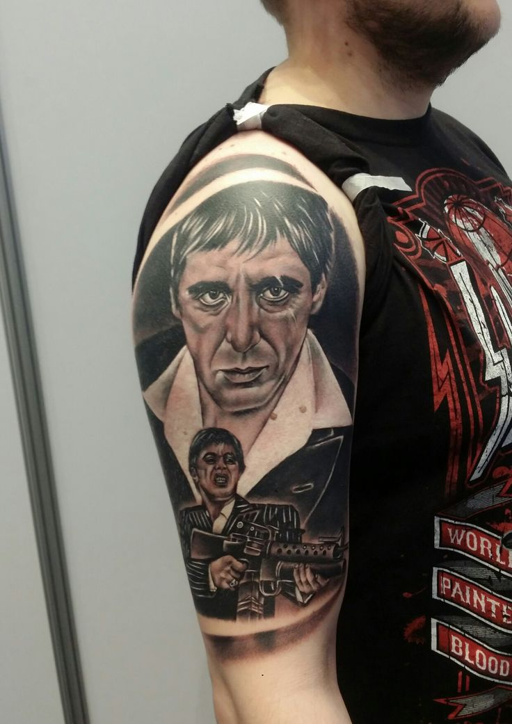 Tony Montana , Scarface tattoo