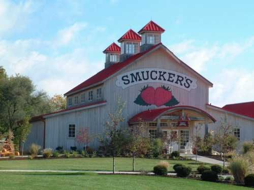 Smuckers Barn  Notes:   Smuckers jelly barn.  Location:  On Rt 57 north of Rt 30 by .4 miles. South of Orville. In Wayne Co. Ohio.  Wayne Co - OH
