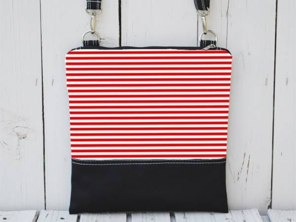 Black Canvas and Red-White Striped Canvas