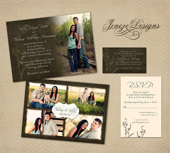 Custom Photo Wedding Invitation by Jeneze on Etsy, $35.00