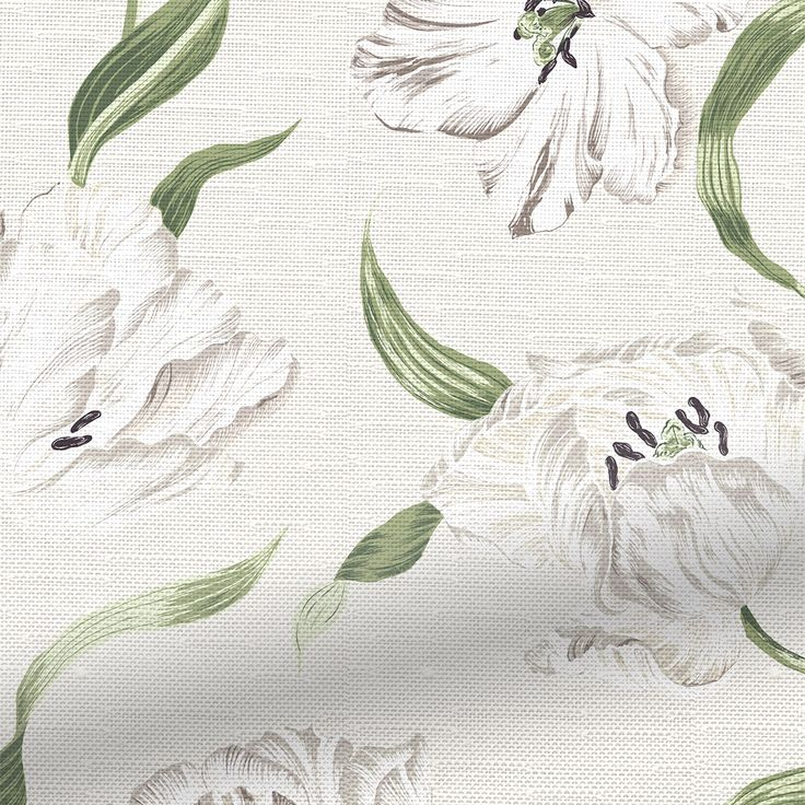 Sanderson's are known for their intricate, beautiful designs and this Dancing Tulips Cream roman blind showcases this in such a magnificent way.