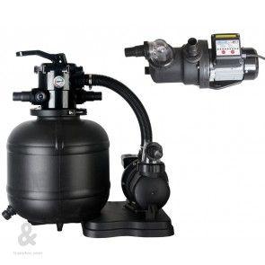Kit de filtración Gre, con filtro de arena de 380 diametro y bomba con temporizador 6,5 m3/h  El conjunto de filtración (filtro + bomba) FAE380Tes una solución fácil y rápida para la limpieza del agua de su piscina.  Se compone de un filtro de 368mm de diámetro con válvula selectora incorporada y una bomba de 450 w Indicado para piscinas de hasta 52,000 litros.