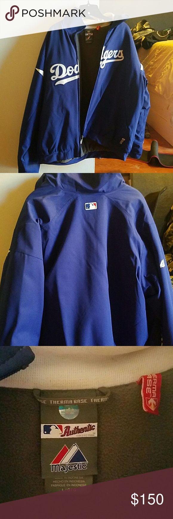 Windbreaker dodgers jacket Has Ben used twice large windbreaker jacket it is thermal base Jackets & Coats