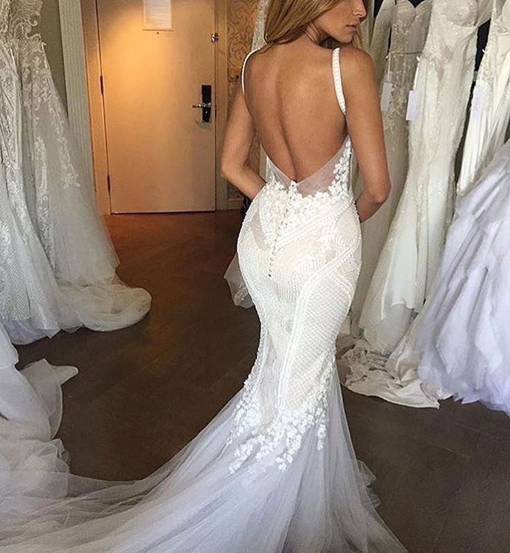 25 best ideas about lace mermaid wedding dress on for Heart shaped mermaid wedding dresses