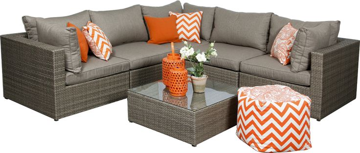 Outdoor Modular Furniture - The Indiana is a very stylish modular and appeals to those who prefer a natural toned wicker.