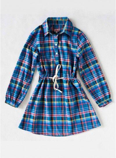 Vestido cuadros cordón - Lola for Kids