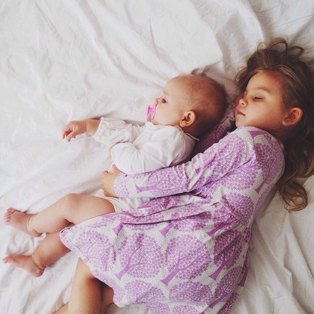 Sibling cuddle