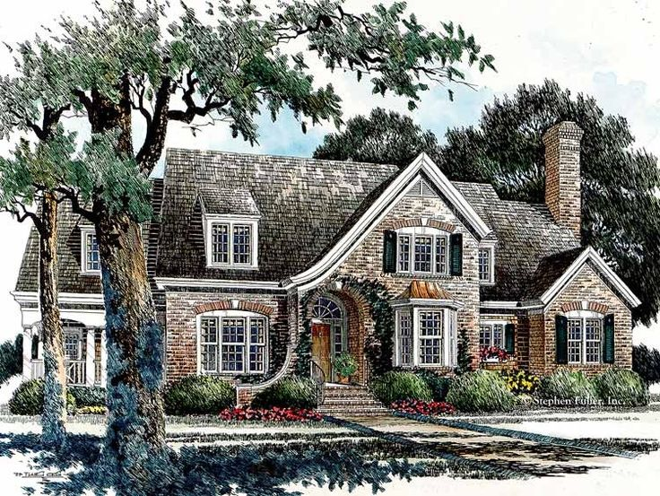 eplans french country house plan smaller english country style 3325 square feet and 3 - Small French Country Cottage House Plans