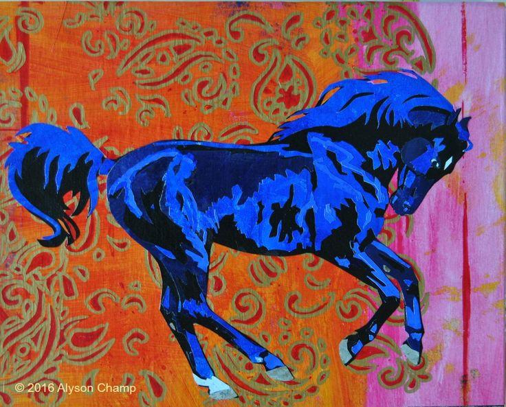 Le Cheval bleu 8x10