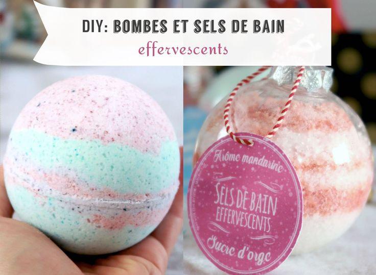 idée cadeaux fait main Bombes de bain comme chez Lush et sels de bain effervescents