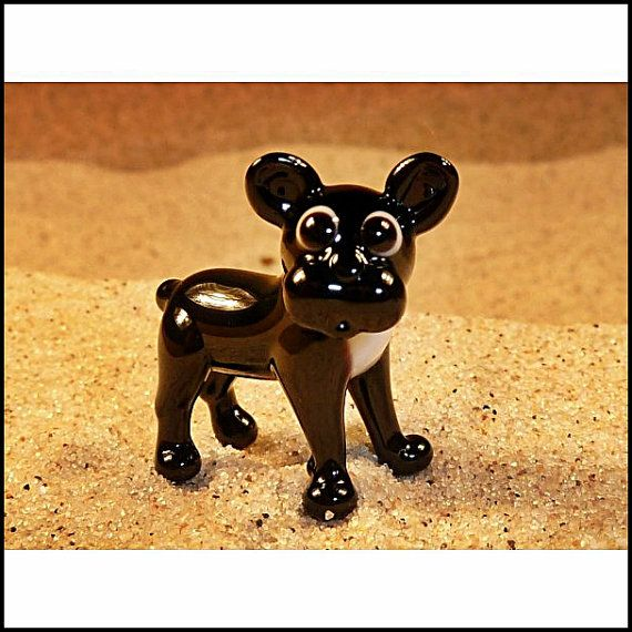 Cute Glass Super Mini Fugirune  French Bulldog by GeoSpyorg