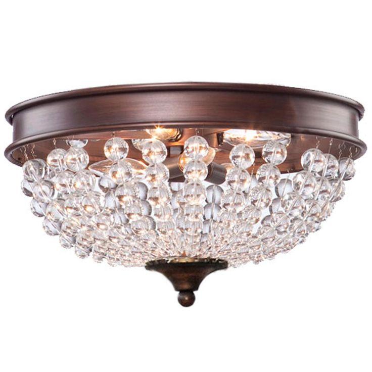 rustic modern crystal basket ceiling light