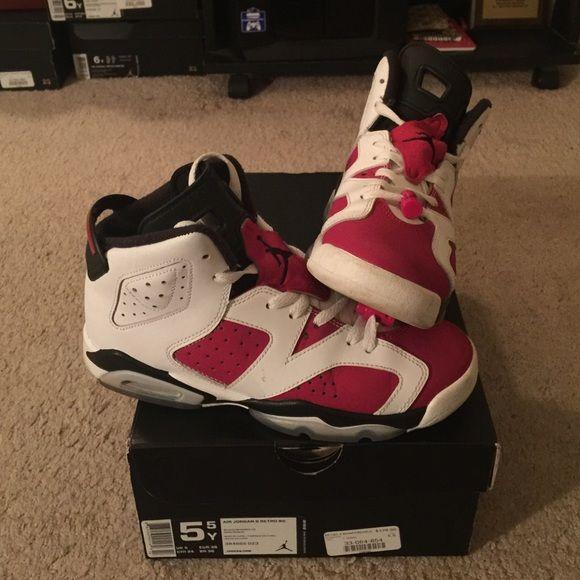 carmine 6s size 5.5 Jordan 2014 carmine 6s size 5.5 og box and sole , 8/10 no trades!!! Jordan Shoes Sneakers