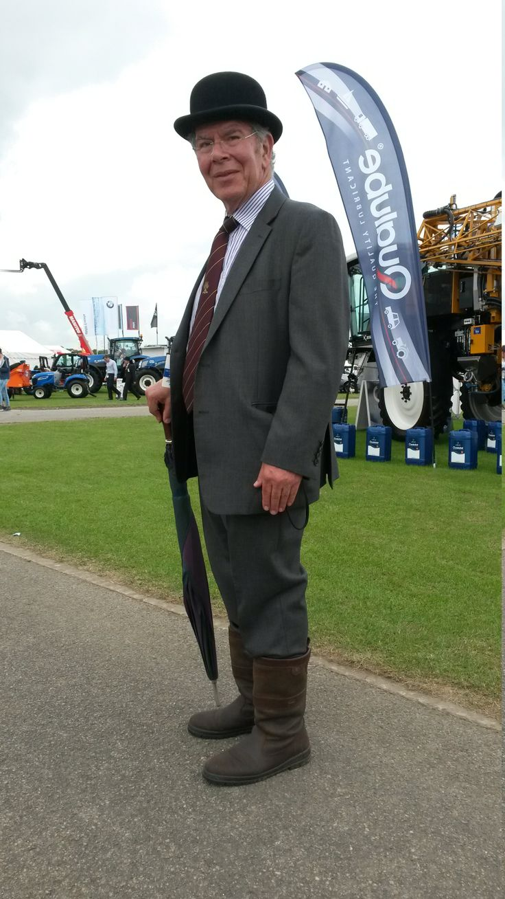 Showing Dubarry boots are perfect for the chaps too - here is Dr Mark Adelman, advisor to the Lincolnshire Agricultural Society, looking every bit the classic English country gent.