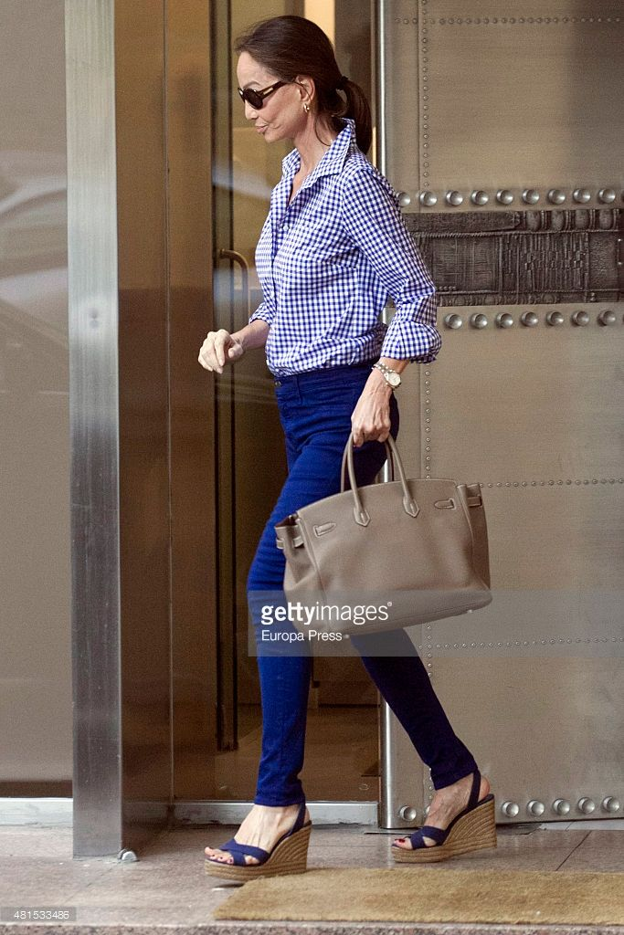 Isabel Preysler is seen on June 25, 2015 in Madrid, Spain.