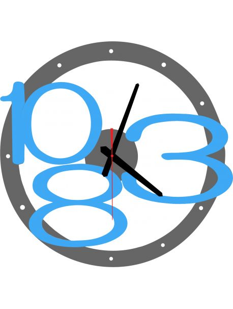 3D wall clock Exclusive, color: gray, blue bright numbers Reference:  X00013-RAL7005-RAL5015 Condition:  New product  Availability:  In Stock  Time to change! Decorating watches will revive every interior, highlight the charm and style of your space. Discover your living with new clocks. Plexiglass wall clocks are a wonderful decoration of your interior.
