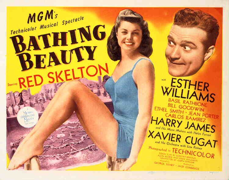 Bathing Beauty 1944 with Esther Williams Red Skelton Harry James Xavier Cugat