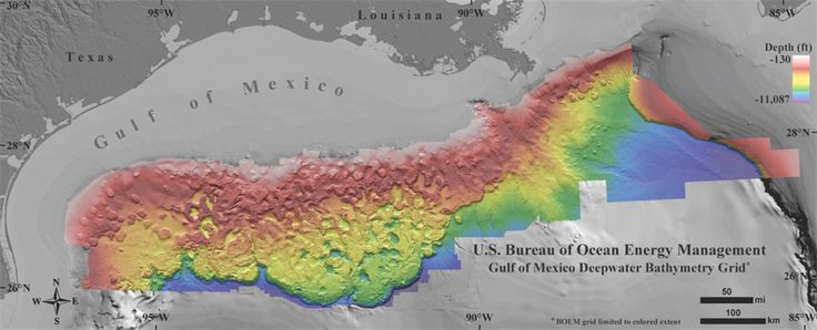 The Bureau of Ocean Energy Management has released a 1.4 billion pixel map of the deepwater Gulf of Mexico that is up to 50 times more detailed than any map that has been pubicly released of the area. The new Northern Gulf of Mexico deepwater bathymetry grid was created using 3D seismic surveys covering an ...