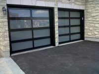 Balmaine style custom garage door with a single mid-split design - Automatic Remote Access