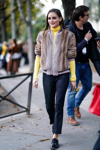 301eea143b1 Olivia Palermo wears a fur coat