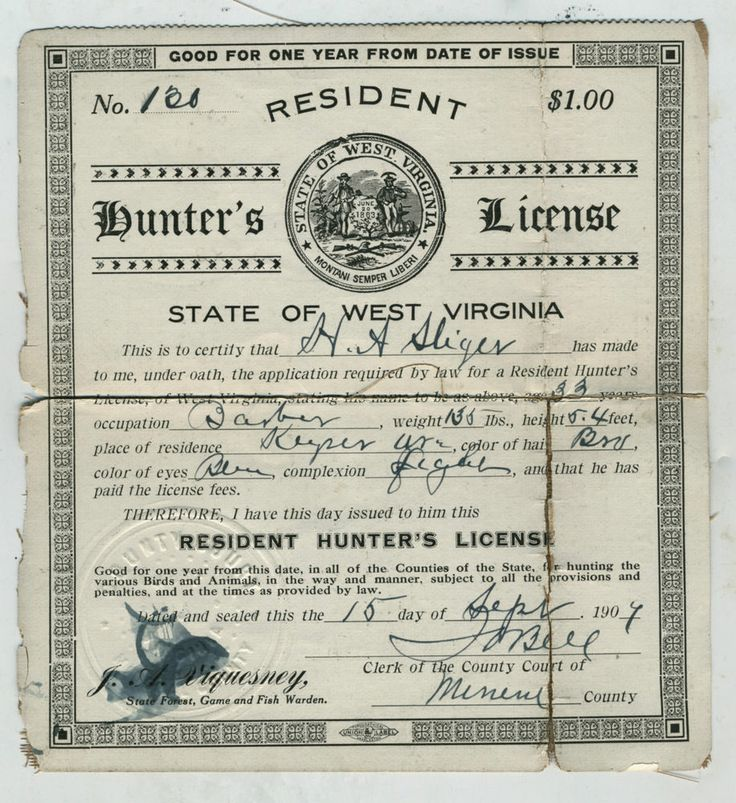 11 best old michigan hunting fishing licenses images on for Wv fishing license online