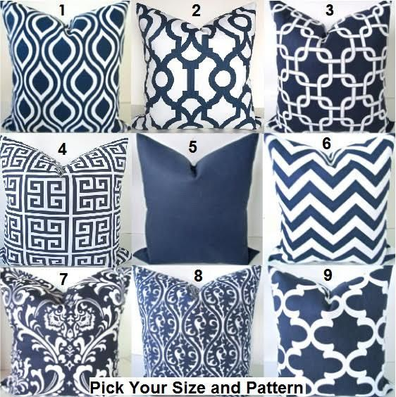 Best 25 Blue pillow covers ideas on Pinterest Navy blue pillows