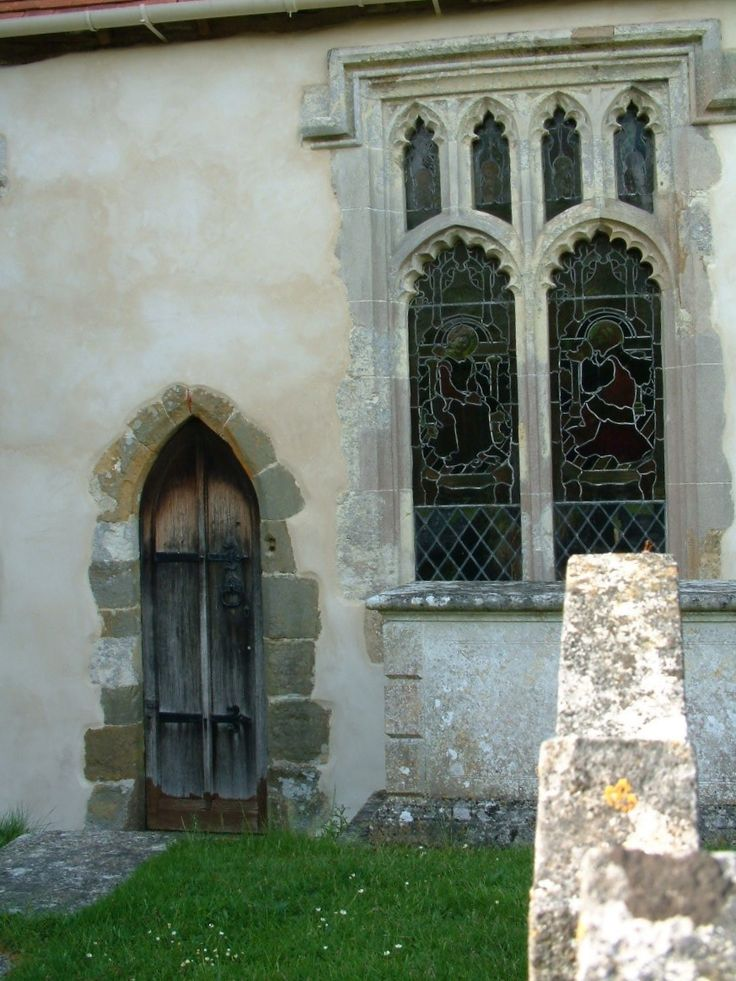 Gothic side door to the church.