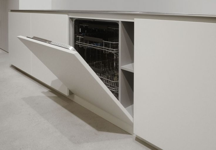 A hidden compartment for detergents behind a design door. Arrital Cucine