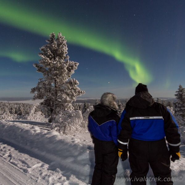 Auroras over Lake Inari