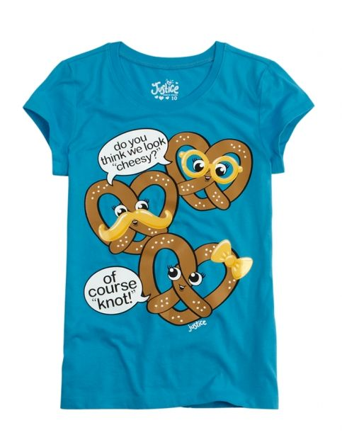 Cheesy Pretzel Graphic Tee | Girls {category} {parent_category} | Shop Justice