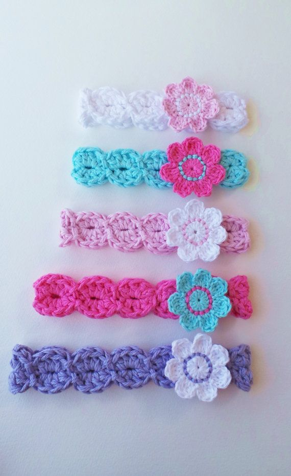 crochet patterns for baby girl headbands   CROCHET HEADBAND Pattern, BABYS headband pattern, Girls headband ...
