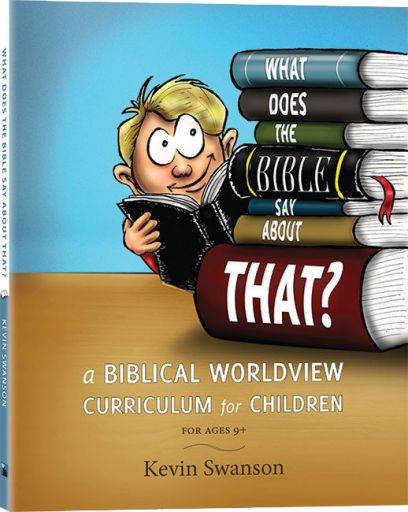 "In this exciting new worldview curriculum for children, Kevin Swanson presents the very basics of a Biblical worldview for children. At some point, every child needs to see the ""forest from the trees."" This introduction to a biblical worldview will help kids make sense of the world around them, and it shows them the big picture of God's truth in the Bible.  Presented in a simple, engaging way, this study guide provides a basic introduction to truth, ethics, origins, causality, anthropology…"