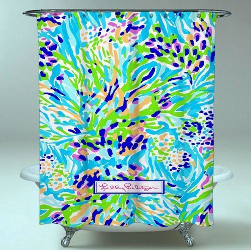 Le meilleur rideau de douche imperméable de belle conception faite sur commande belle de Lilly Pulitzer chaud   – Shower Curtain Sale