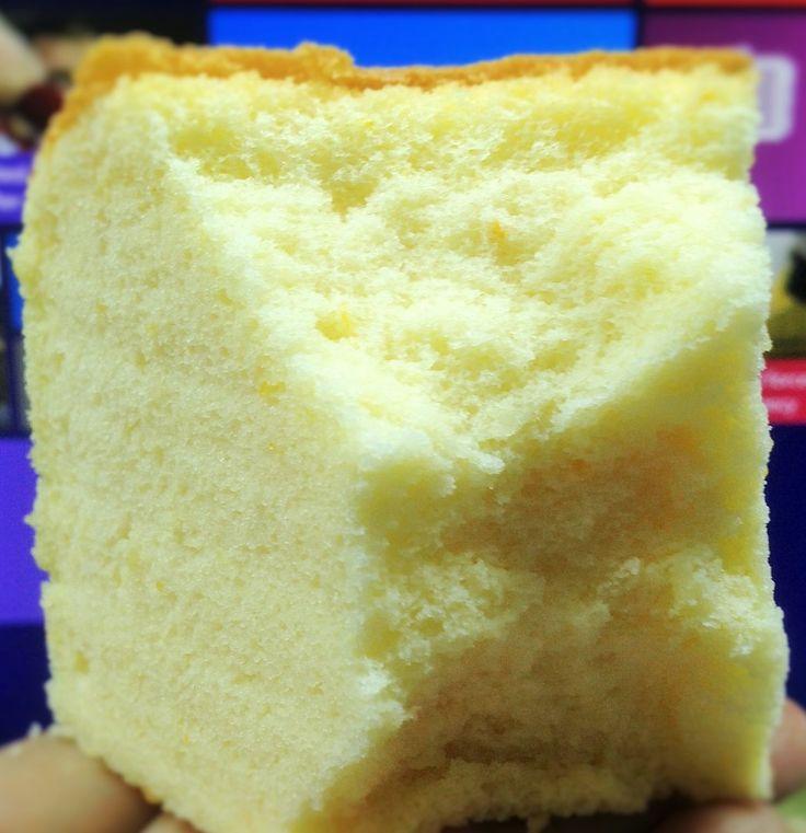 Orange sponge cake Ingredients: 6 large egg yolks 70g oil 100g orange juice 90g cake flour 1/2 salt Zest of one orange 6 egg whites 100g sugar 1/4 tsp cream of tartar Method: 1. Line the bottom an …