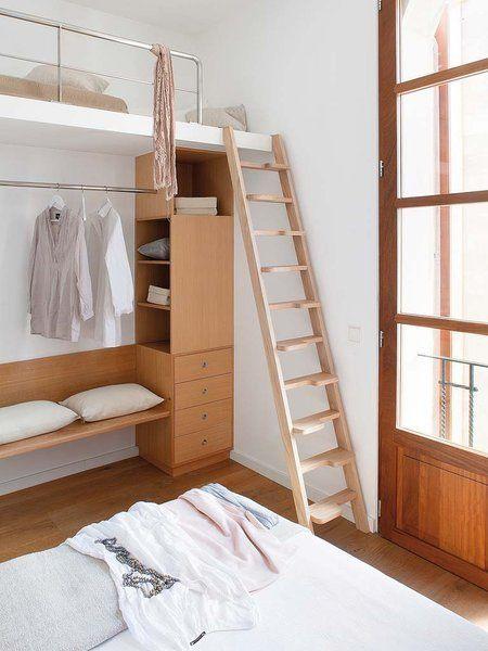 cama en poco espacio nice loftguest