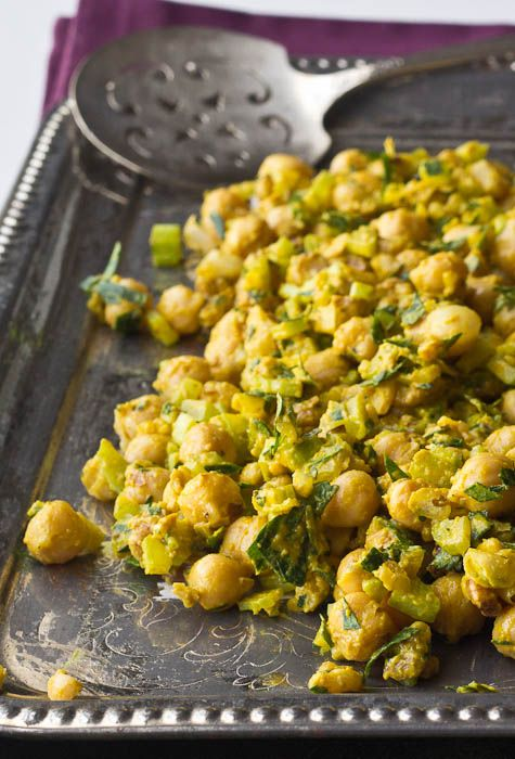 Lemony Mustard Chickpea Salad is a great sandwich filling for quick lunches, or a tasty side dish.