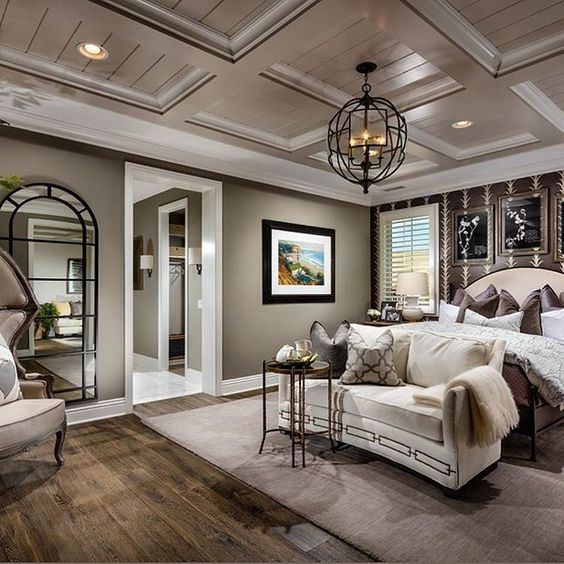 Masculine Master Bedroom: Beautiful Bedroom That's Got A Masculine Flare With The
